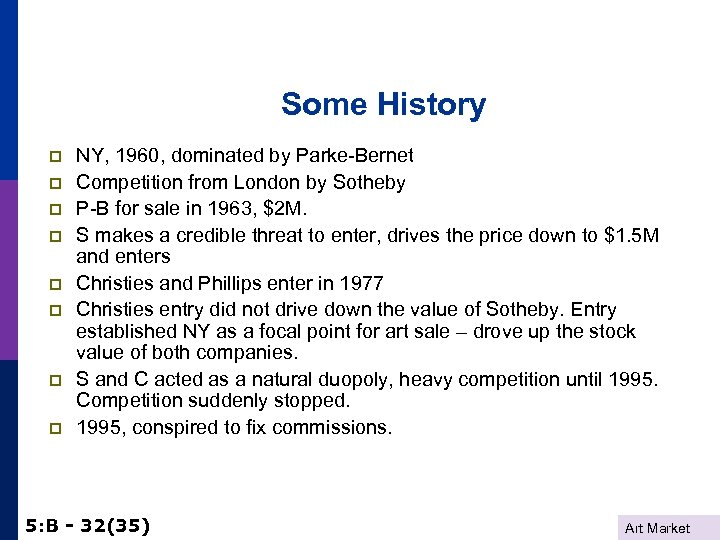 Some History p p p p NY, 1960, dominated by Parke-Bernet Competition from London