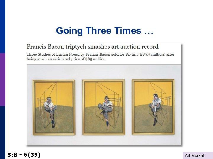 Going Three Times … 5: B - 6(35) Art Market