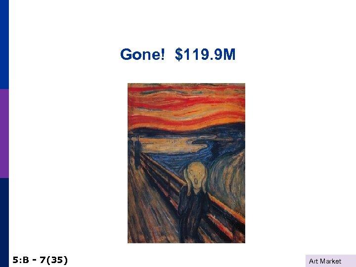 Gone! $119. 9 M 5: B - 7(35) Art Market