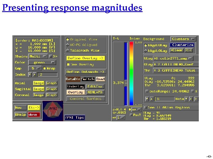 Presenting response magnitudes -43 -