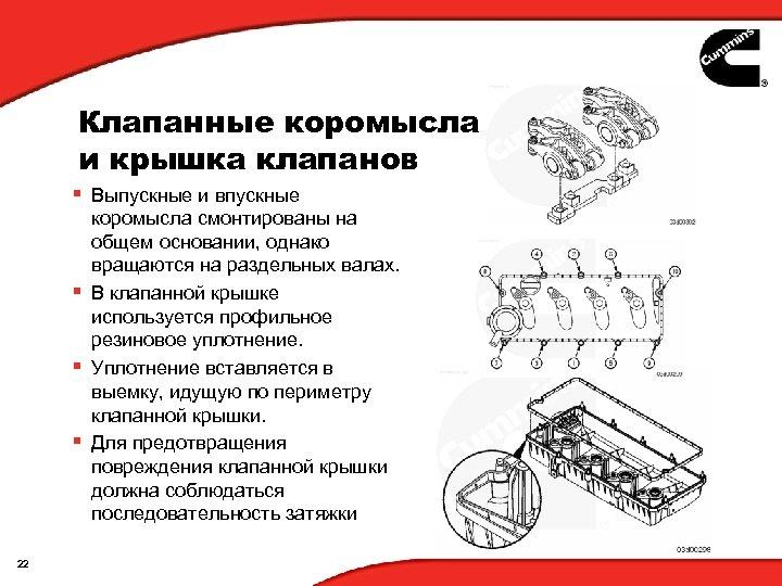 Клапанные коромысла и крышка клапанов § Выпускные и впускные коромысла смонтированы на общем основании,