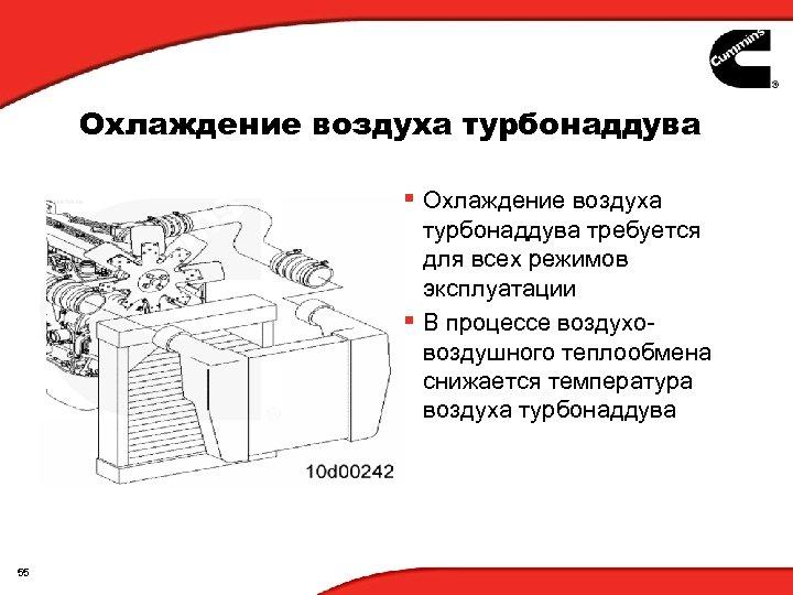 Охлаждение воздуха турбонаддува § Охлаждение воздуха турбонаддува требуется для всех режимов эксплуатации § В