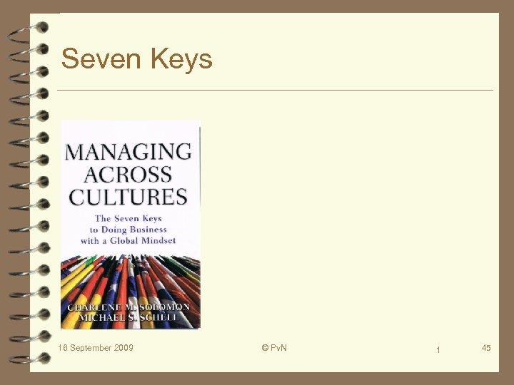 Seven Keys 16 September 2009 © Pv. N 1 45