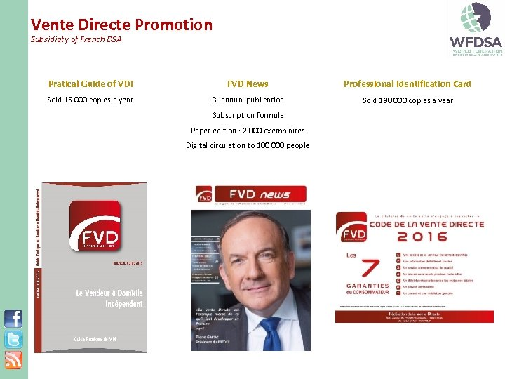 Vente Directe Promotion Subsidiaty of French DSA Pratical Guide of VDI FVD News Professional
