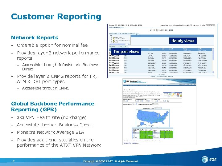 Customer Reporting Network Reports • Orderable option for nominal fee • Provides layer 3