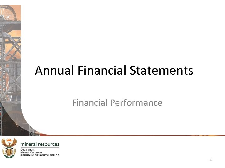 Annual Financial Statements Financial Performance 4