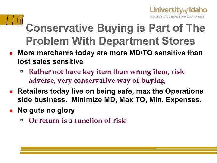 Conservative Buying is Part of The Problem With Department Stores l l l More