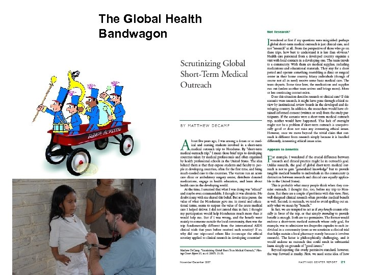 The Global Health Bandwagon