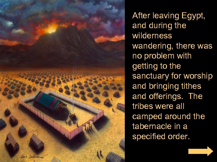 After leaving Egypt, and during the wilderness wandering, there was no problem with getting
