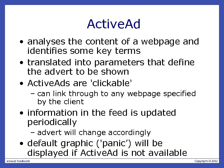 Active. Ad • analyses the content of a webpage and identifies some key terms