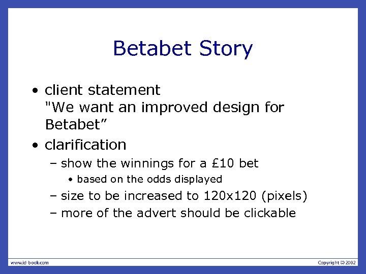 Betabet Story • client statement