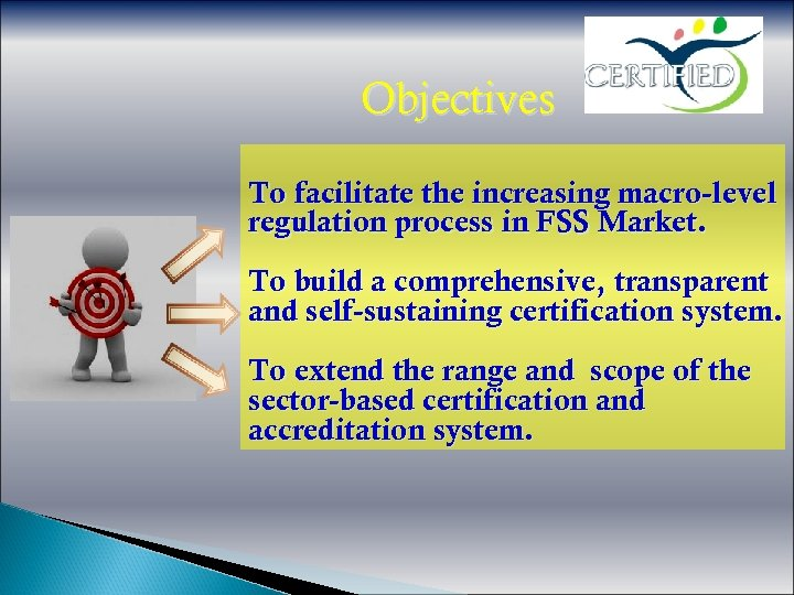 Objectives To facilitate the increasing macro-level regulation process in FSS Market. To build a