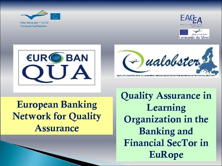European Banking Network for Quality Assurance in Learning Organization in the Banking and Financial