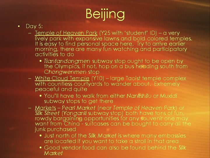 Beijing • Day 5: – Temple of Heaven Park (Y 25 with 'student' ID)