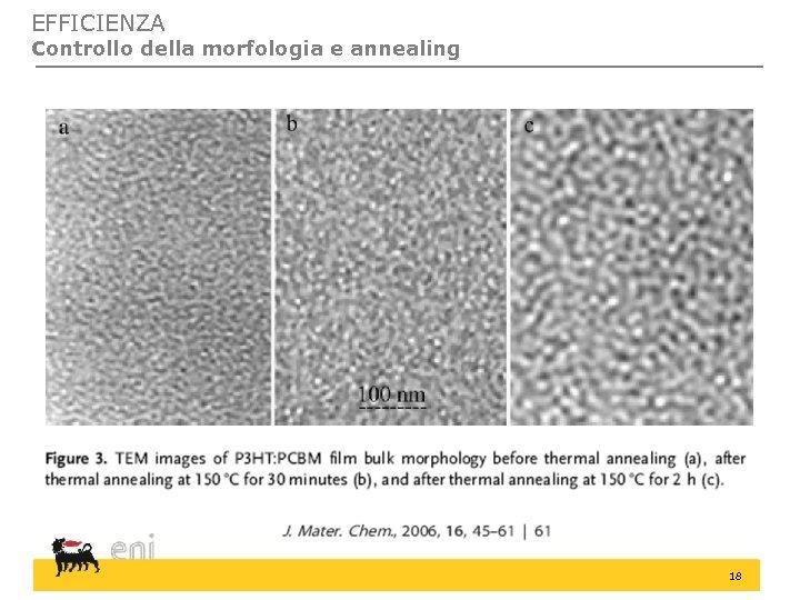 EFFICIENZA Controllo della morfologia e annealing 18