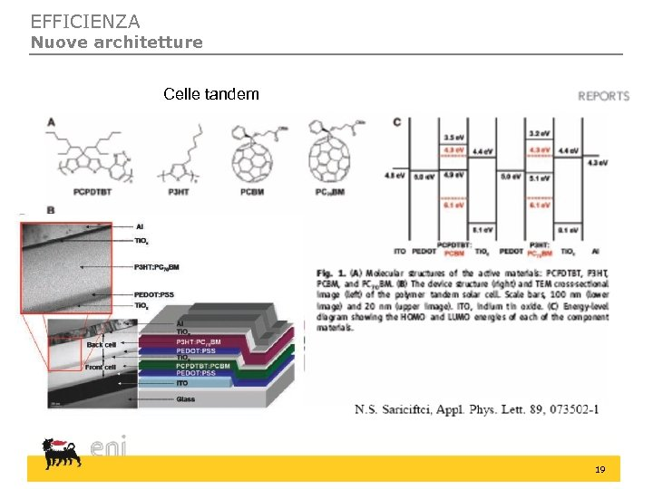 EFFICIENZA Nuove architetture Celle tandem 19