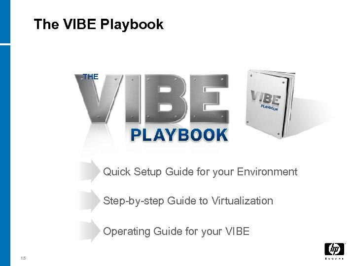 The VIBE Playbook THE Quick Setup Guide for your Environment Step-by-step Guide to Virtualization