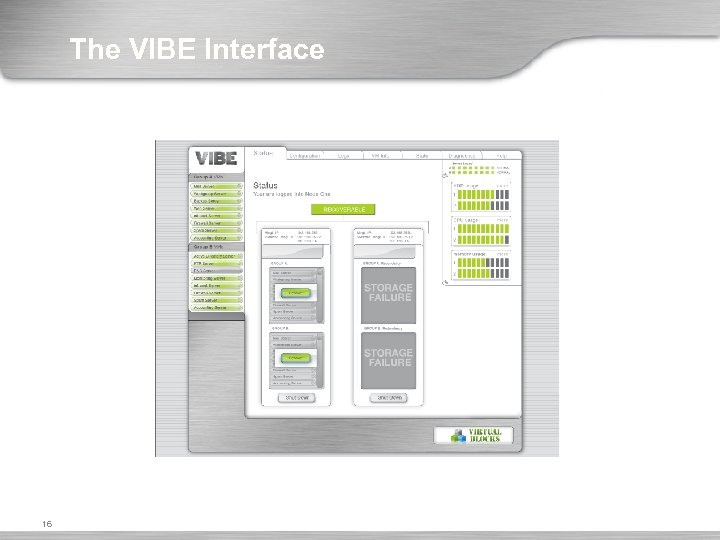 The VIBE Interface 16