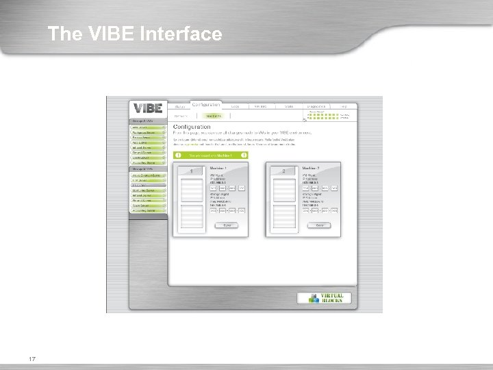 The VIBE Interface 17