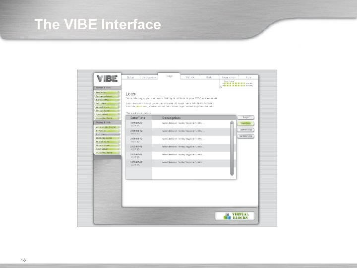 The VIBE Interface 18