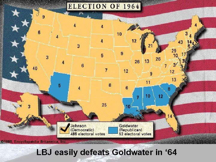 LBJ easily defeats Goldwater in ' 64