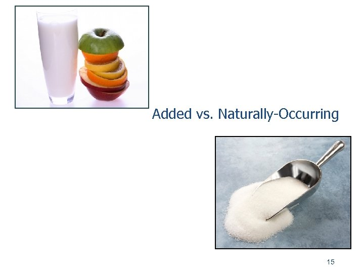 Added vs. Naturally-Occurring 15