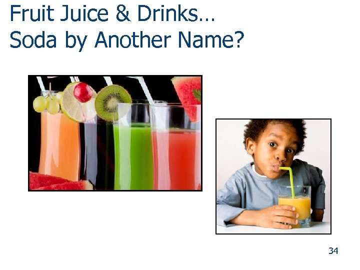 Fruit Juice & Drinks… Soda by Another Name? 34 34