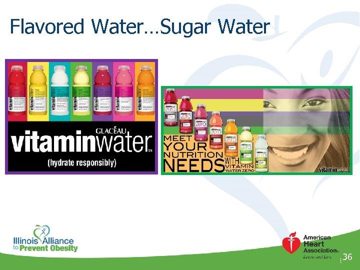 Flavored Water…Sugar Water 36