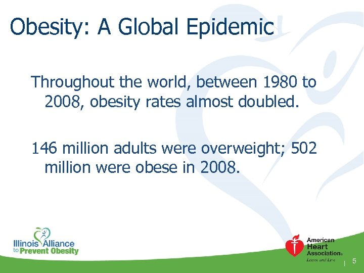 Obesity: A Global Epidemic Throughout the world, between 1980 to 2008, obesity rates almost