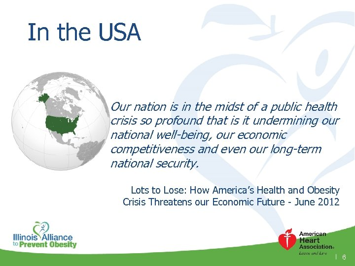 In the USA Our nation is in the midst of a public health crisis