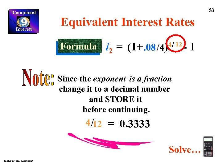 Compound 9 Interest 53 Equivalent Interest Rates Formula i 2 = (1+. 08 /4)4/