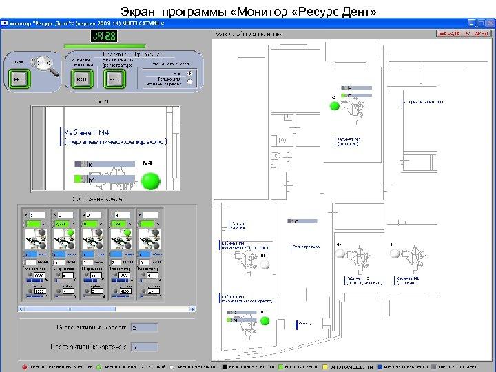 Экран программы «Монитор «Ресурс Дент»