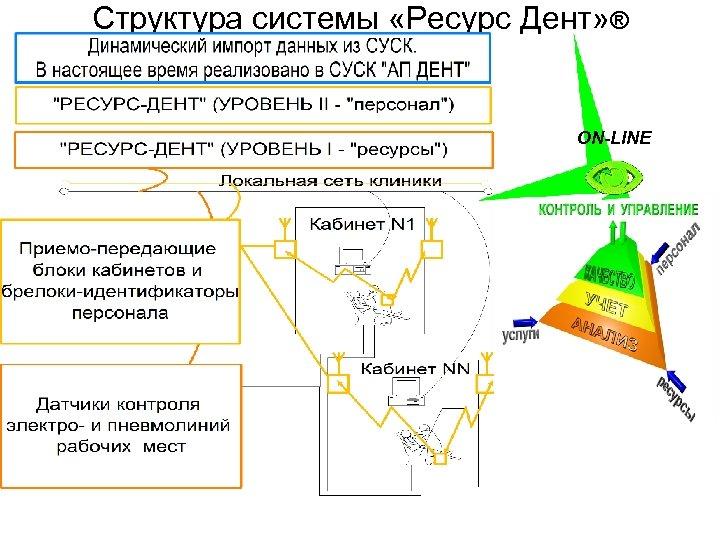 Структура системы «Ресурс Дент» ® ON-LINE