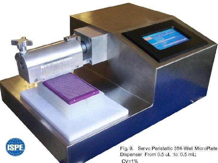 Fig. 9. Servo Peristaltic 384 -Well Micro. Plate Dispenser From 0. 5 u. L