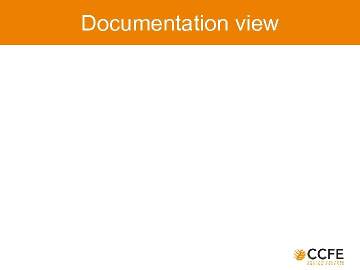 Documentation view
