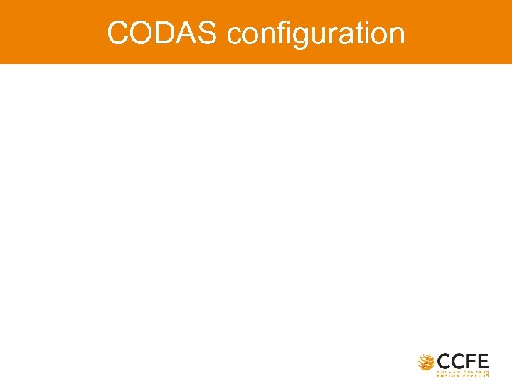 CODAS configuration