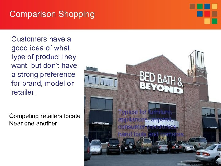 Comparison Shopping Customers have a good idea of what type of product they want,