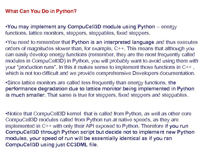 What Can You Do in Python? • You may implement any Compu. Cell 3