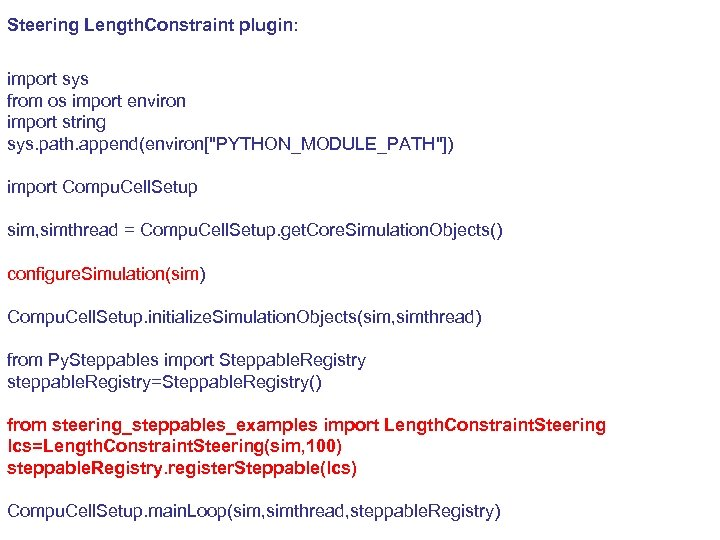 Steering Length. Constraint plugin: import sys from os import environ import string sys. path.