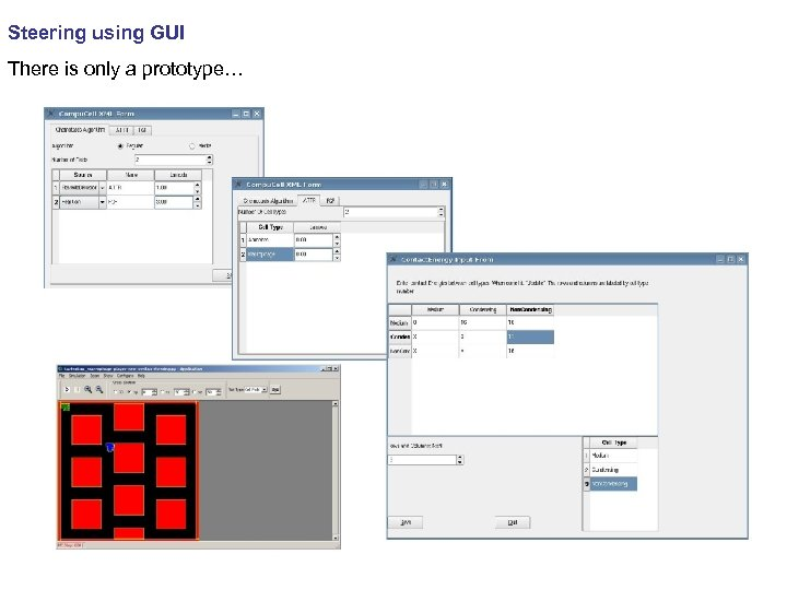 Steering using GUI There is only a prototype…