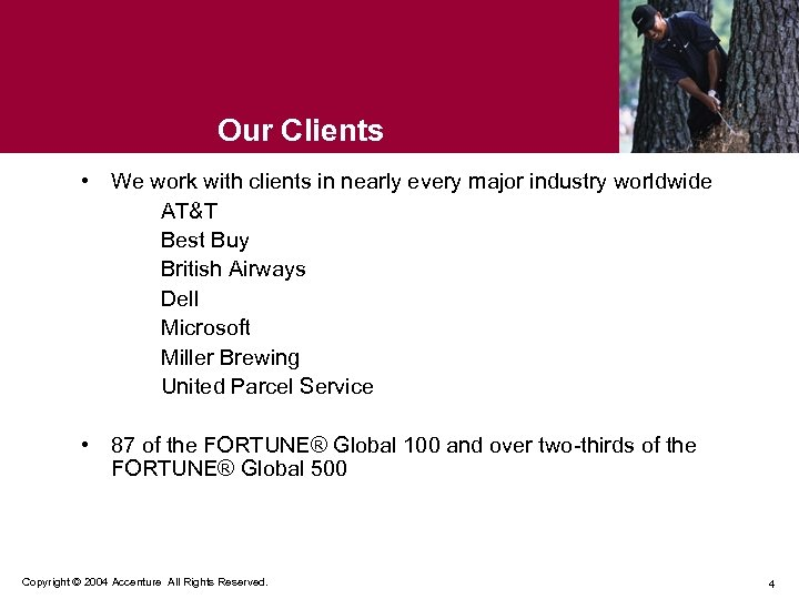 Our Clients • We work with clients in nearly every major industry worldwide AT&T