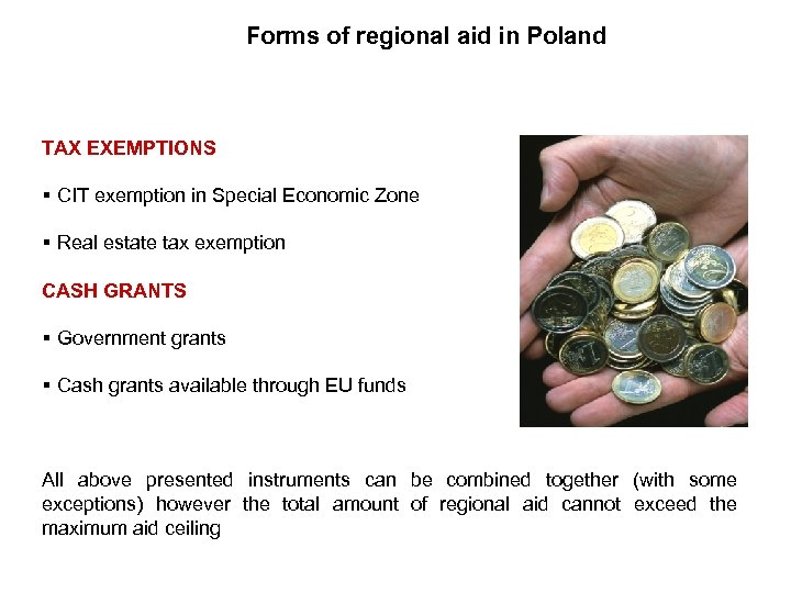 Forms of regional aid in Poland TAX EXEMPTIONS § CIT exemption in Special Economic