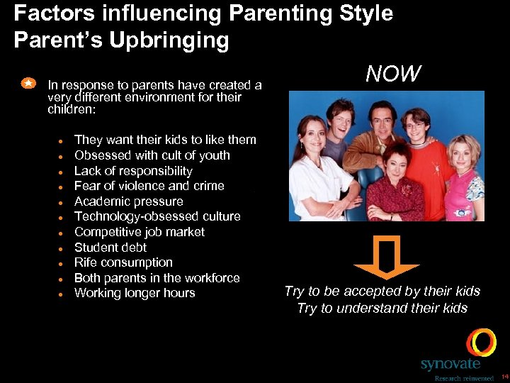 Factors influencing Parenting Style Parent's Upbringing NOW In response to parents have created a