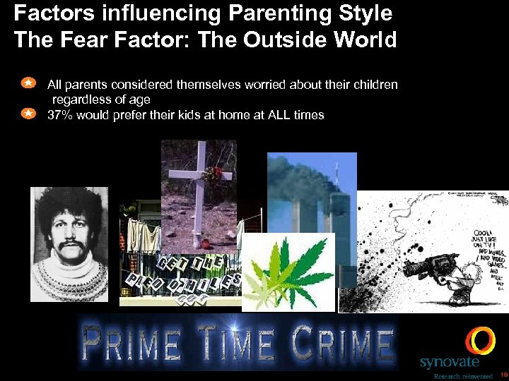 Factors influencing Parenting Style The Fear Factor: The Outside World All parents considered themselves
