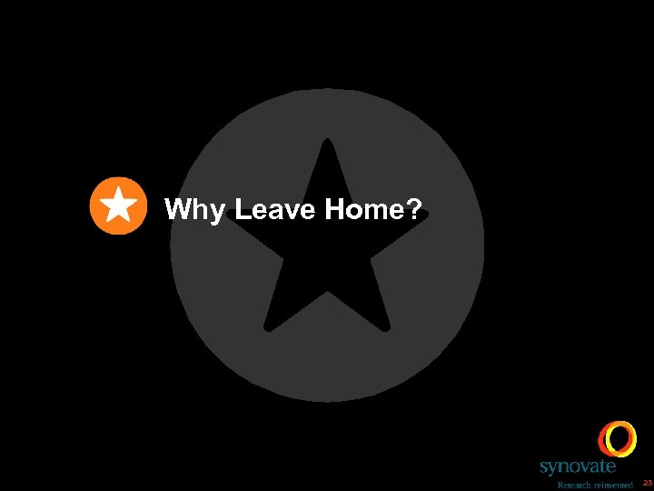 Why Leave Home? 23