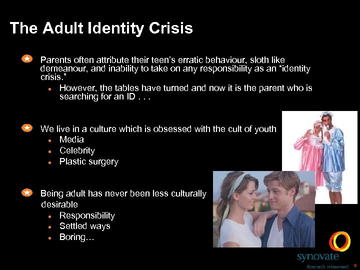 The Adult Identity Crisis Parents often attribute their teen's erratic behaviour, sloth like demeanour,
