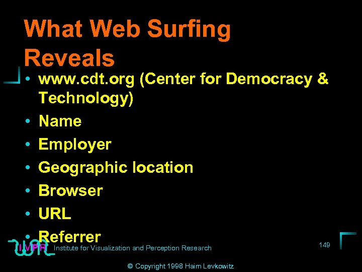 What Web Surfing Reveals • www. cdt. org (Center for Democracy & Technology) •