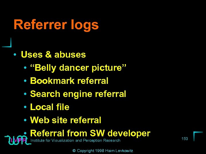 """Referrer logs • Uses & abuses • """"Belly dancer picture"""" • Bookmark referral •"""
