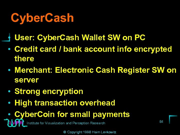 Cyber. Cash • User: Cyber. Cash Wallet SW on PC • Credit card /