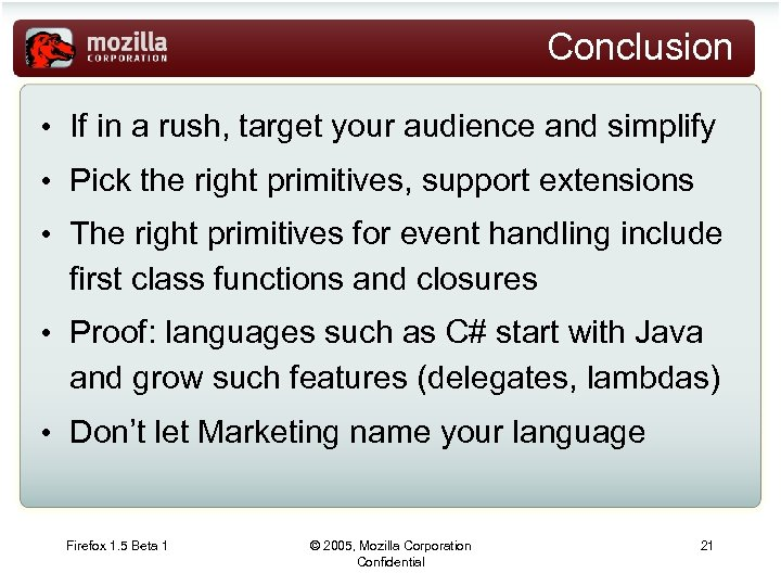 Java Script at Ten Years Brendan Eich brendan mozilla